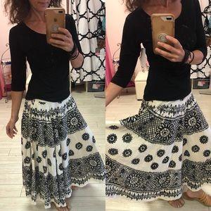 Wet Seal Bohemian full circle skirt.  Black ivory
